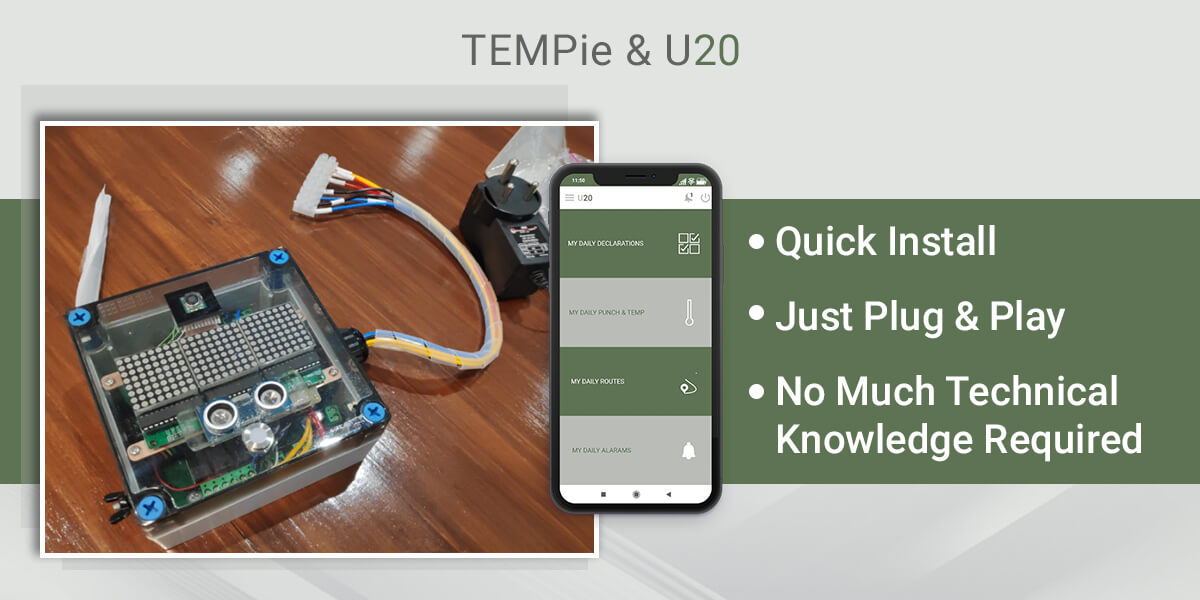 IoT Device 'TEMPie' & Web/Mobile Application 'U20'