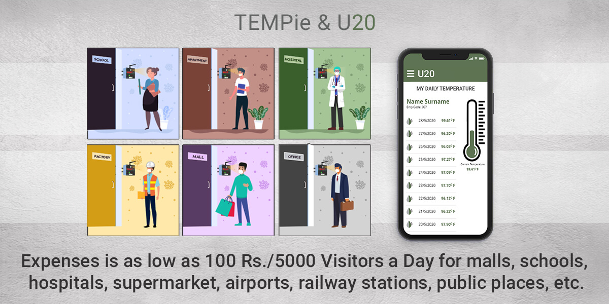 Expenses are as low as 100 Rs/5000 Visitors a Day for malls, schools, hospitals, supermarkets, airports, railway stations, public places, etc.